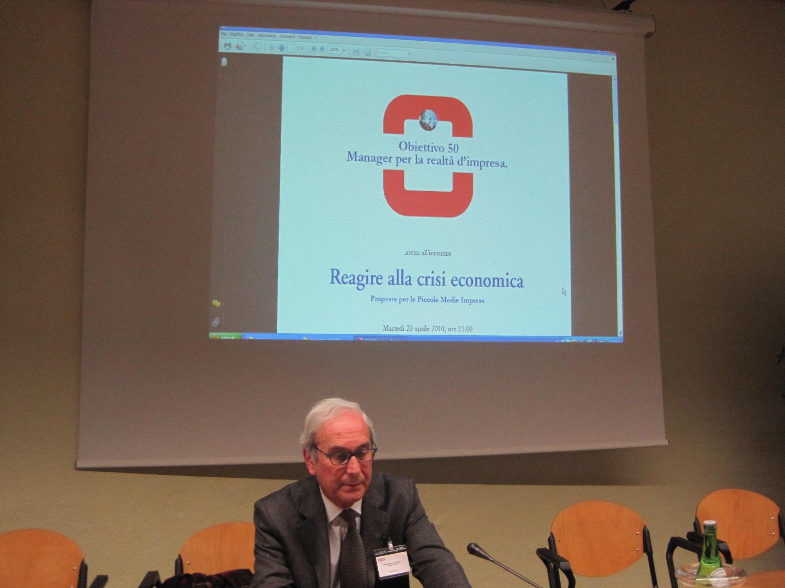 convegno 2010 reagire alla crisi economica